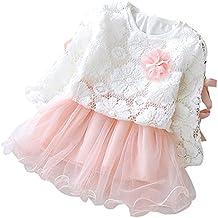 Niña bebé Vestido 6-24 Meses,Vestido de Niña pequeño Invierno Vestido de Princesa