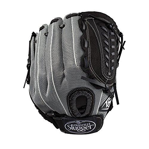 Louisville Slugger 2019Genesis Heimspiele Baseball Handschuh-Rechte Hand Überwurf schwarz/Gunmetal/weiß, 29,2cm