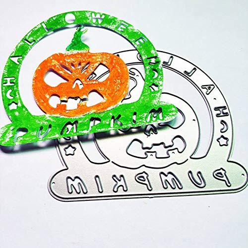 Bodhi2000 Halloween Kürbis Stanzformen Handmade DIY Schablonen Vorlage Prägen für Karte Scrapbooking Handwerk