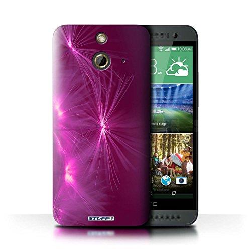 Kobalt® Imprimé Etui / Coque pour HTC One/1 E8 / Jaune conception / Série Allumez la vie Rose