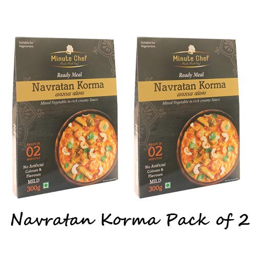 Minute Chef-Ready to Eat Navratan Korma, 300g Pack of 2