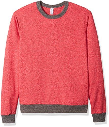 Men's Champ Eco-Mock Twist Ringer Sweatshirt EC MCK ENG RED XL (Mock Jumper)