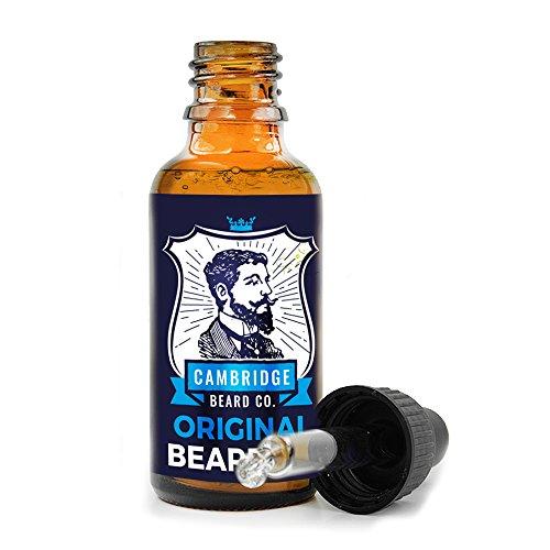 Bart Öl (30ml) mit Dropper für Herren–PREMIUM Bart Öl made mit Jojoba-Öl von Cambridge Bart CO. STOP juckende Bärte–leicht parfümiert Bart Öl für natürliche Bart Wachstum und Kondition. (Bro Bart öl)