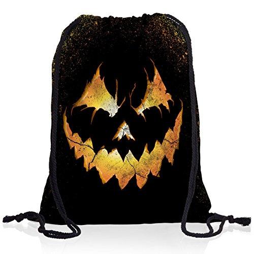 style3 Halloween Kürbiskopf Rucksack Tasche Turnbeutel Sport Jute Beutel (Halloween-streich Der 13. Freitag,)