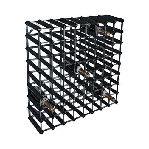 RTA 72Flaschen Weinregal 8x 8schwarz Esche Kiefer verzinkt Stahl bereit zu montieren–wnrk4154 (Montieren 72)