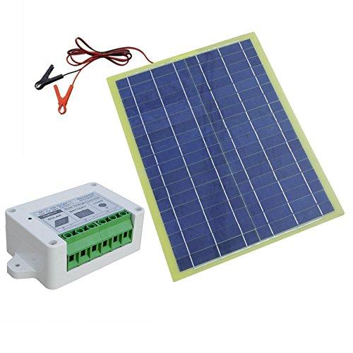 20W 12V portátil epoxi sistema de panel solar con 3A controlador de carga solar y de clips ideal para coche Camping Aventura (precio: 50,00€)