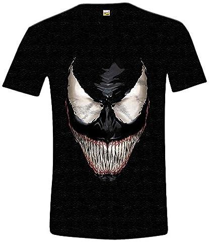 Marvel Carnage - T-shirt - Imprimé - Col rond - Manches courtes - Homme - Noir - XX-Large (Taille fabricant: XXL)