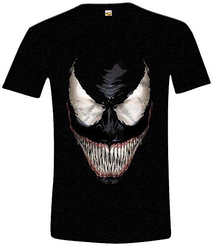 Marvel Herren, T-Shirt, Carnage, GR. X-Large (Herstellergröße: XL), Schwarz (Noir) (Spiderman Venom Maske)