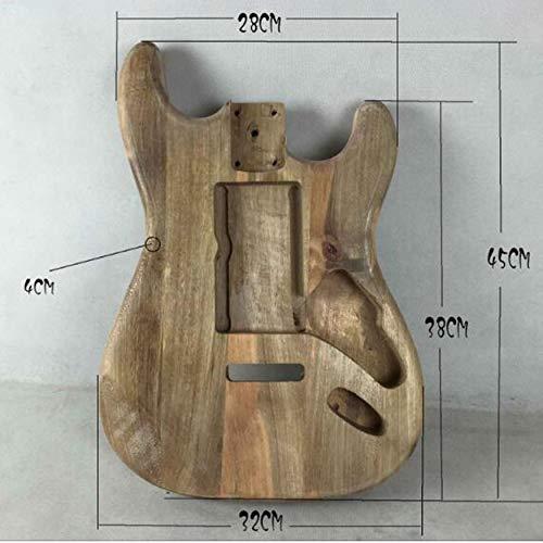 Yaoaomon Unvollendeter DIY Gitarren Korpus Ahorn Korpus für Fender ST Style Gitarre Holzfarbe