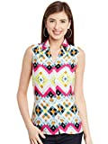 Wisstler Women's Multi Poly Crepe Shirt Size: Small