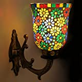 "Earthenmetal Handcrafted ""Bouquet of Flower"" Design Metal Fitting Wall Lamp/Light"