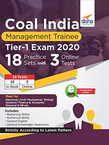 Coal India Management Trainee Tier I Exam 2020 - 18 Practice Sets with 3 Online Tests