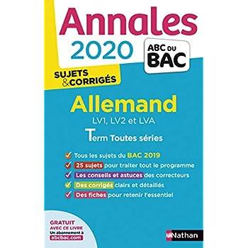 Annales ABC du Bac 2020 Allemand Term L-ES-S