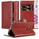 Cadorabo Hülle für Huawei G7 Plus / G8 / GX8 - Hülle in Wein ROT - Handyhülle im Luxury Design mit Kartenfach & Standfunktion - Case Cover Schutzhülle Etui Tasche Book