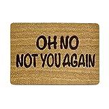 Zhaoke Türmatte lustig, Oh No Not You Again, Lustige Spruchmatte für Eingang Haustür Flur Geschenk 40 * 60cm