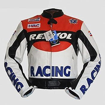 NEU HONDA Echtleder Motorrad Motorrad Racing Jacke Lederanzug Biker Motogp