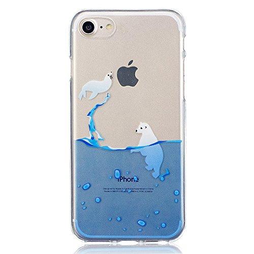 Cover iPhone 6S Plus 6 Plus, E-Unicorn Custodia Cover iPhone 6S Plus 6 Plus Trasparente con Disegni Fiore Silicone Morbido TPU Gomma Morbida Colorate Ultra Slim Bumper Case Retro Elegante Modello Prot Sigillo