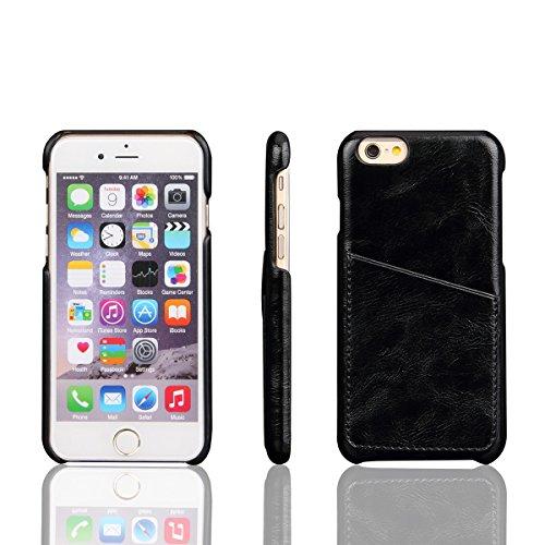 iPhone 6 / iPhone 6s 4.7 inch Handycover, LifeePro für iPhone 6 / iPhone 6s 4.7 inch Crazy Horse Pattern PU Leder Handycover mit Flip Stand Funktion Fotorahmen und Kartensteckplätze Abdeckung Rot Schwarz