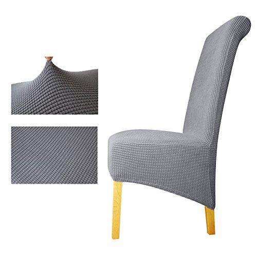 Zurück Plaid Chair Cover Sitzbezüge Stuhlhussen Restaurant Hotel Party Bankett Grey XL Sizes
