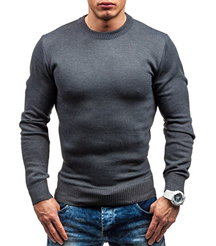 BOLF – Tricot – Pull – S-WEST 6005 – Homme Gris