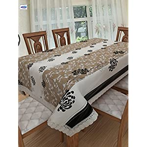 Clasiko 4 Seater PVC Table Cover; Brown Checks; 54×78 Inches; 4 Seater