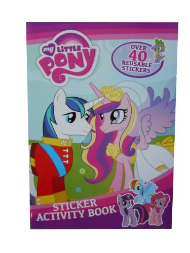 My Little Pony Stickers Activity Book Toys Puzzles Gift Party Bag Filler (Monster High My Little Pony)
