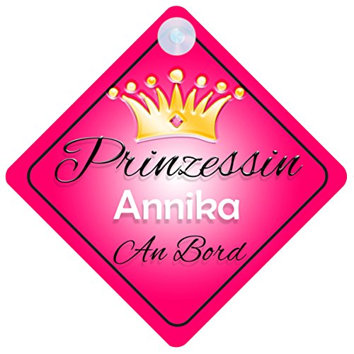 Prinzessin Annika Baby / Kind an Bord Mädchen Auto-Zeichen (Prinzessin001)