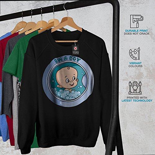 Incliné De Décalage Gaming Femme S-2XL Sweat-shirt   Wellcoda Noir