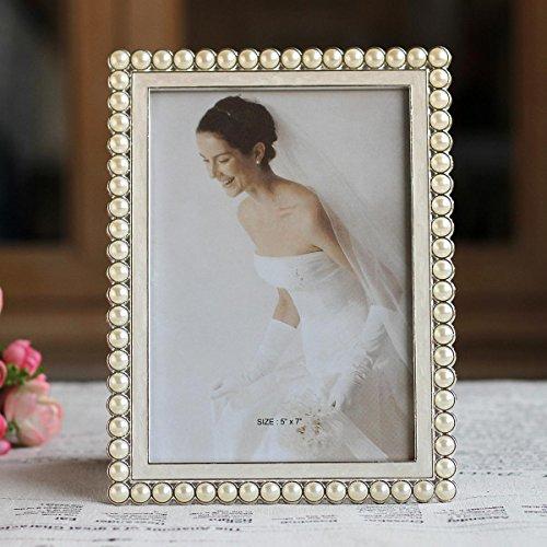 MiniWall 6 Zoll 7 Zoll Metallrahmen pearl Einfaches Foto Hochzeit Snapshot Foto Stock schwingen Schwingen zum Geburtstag giftX 35