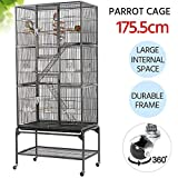 Yaheetech 3 Tiers Large Bird Cage Parrot Cage for Budgies/Lovebirds/Conures/Parakeets/Cockatiels and so on Aviary for Chinchilla Degu Rats Cage with Perch Stand and Wheels
