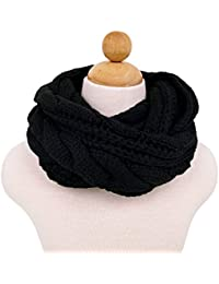 Luna et Margarita Echarpe Cercle en Tricot à Crochet Twist 8 Couleurs  Foulard Hiver pour Femme c8906cc6c5b
