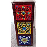 RM Hand Carved Wood Ceramic Jewelry Box With Inspired Royal Aura & Interior Gift Ideas For New Year Special