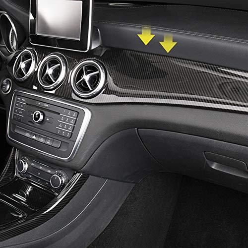Preisvergleich Produktbild HDCF Carbon Style Mittelkonsole Klimaanlage Panel Frame Dekoration Abdeckung für GLA CLA Armaturenbrett Panel schwarz