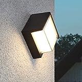 AMOS Außenwandlampe LED-Hof-Außengang wasserdichte Balkonterrasse moderne kreative Hausgartenlichter (Farbe : Warmes Licht)