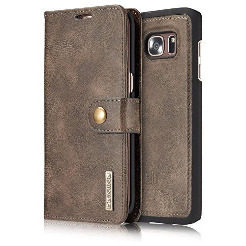Armor-DG-MING-Samsung-Galaxy-S7-edge-Case-Vintage-Genuine-Leather-Wallet-Case-Flip-cover-Magnetic-Detachable-Leather-Back-Cover-3-Card-Slots-1-Cash-Slot-Removable-Cover-Case-with-Card-Holder-for-Samsu