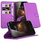 Cadorabo DE-105722 - Custodia per Huawei Ascend G7 Plus / G8 / GX8, con Scomparto per Carte di Credito e Funzione leggio, Colore: Viola