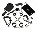 Deluxe Bondage Set Fesselkunst aus 11 Teilen, mehrteiliges extra robustes Set für Fesselspiele und Bondage Liebhaber
