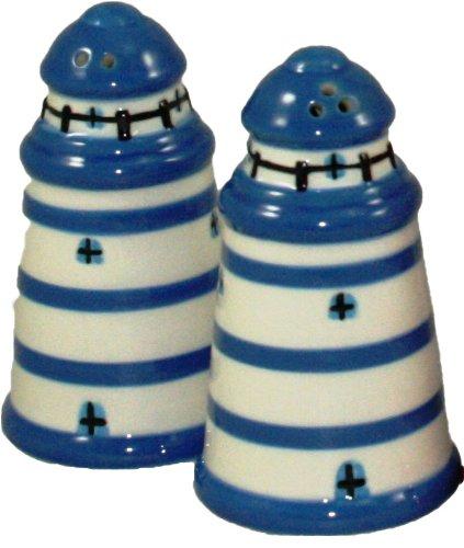 Banlon Sel et poivre en céramique Motif bateau Bleu