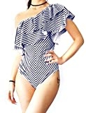 Enjoyoself Costume Intero da Donna Sexy Un Pezzo da Bagno con Monospalle e Scollo Asimmetrico per Nuoto Piscina Mare Spiaggia Vacanza