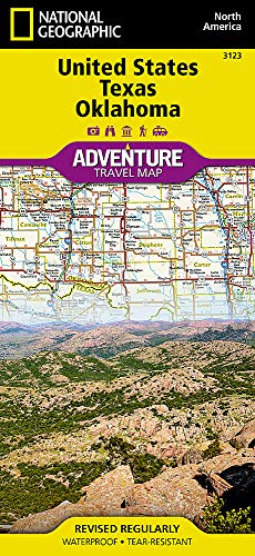 United States, Texas and Oklahoma (National Geographic Adventure Travel Map North America, Band 3123) -