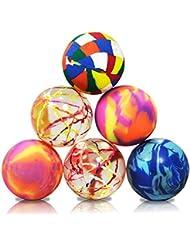 6 x HC-Handel 914223 Flummi Springball Scratch Univers Mix 45 mm