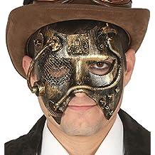 Damen Herren Steampunk gelbgolden WILD WESTEN Viktorianisch Erfinder Maskerade Karneval Halloween Kostüm Kleid Outfit Augen Maske
