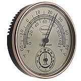 Brannan, termometro igrometro con quadrante Dorato, per Serra da Giardino, casa, Ufficio, Misura Temperatura e umidità