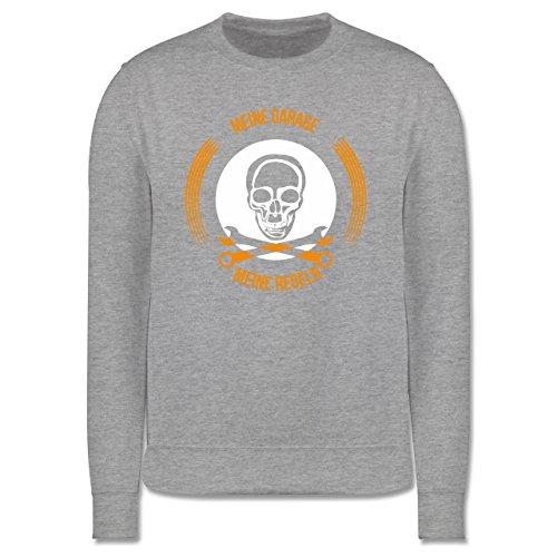 Statement Shirts - Meine Garage meine Regeln - Herren Premium Pullover Grau Meliert