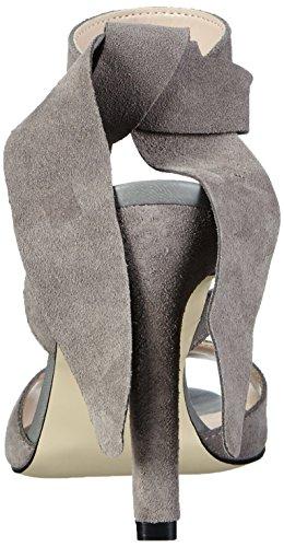 Vero Moda Vmmalene Leather Sandal, Sandales Bride arrière femme Gris (High-Rise)