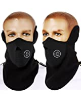 Black Motorcycle Motorbike Thermal Balaclava Half Mask Bike Cycle Ski Snow Snowboard Sport Sporty Winter Face/ Neck Cover Warmer Outdoor