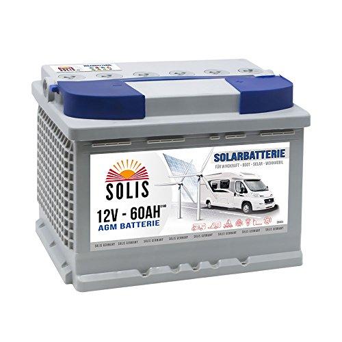 AGM Solarbatterie 60AH Boots Wohnmobil Solar Versorgungs Batterie 65Ah Gel Marine Batterie