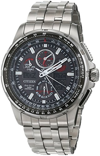 Citizen orologio analogico ad energia solare con cinturino in acciaio INOX JY8050–51E