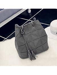 Women Tassel PU Leather Shoulder Bag Large Capacity Colorful Strap Sling Bag
