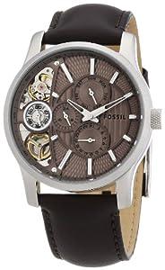 Reloj Fossil ME1098 manual para hombre con correa de piel, color marrón de Fossil